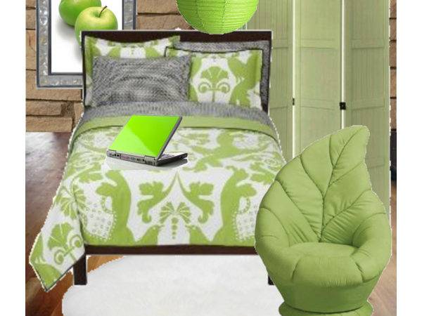 Lime Green Bedroom Polyvore
