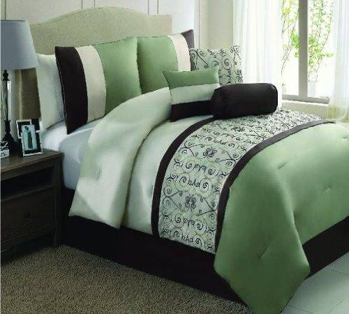 Lime Green Black Comforter Bedding Sets