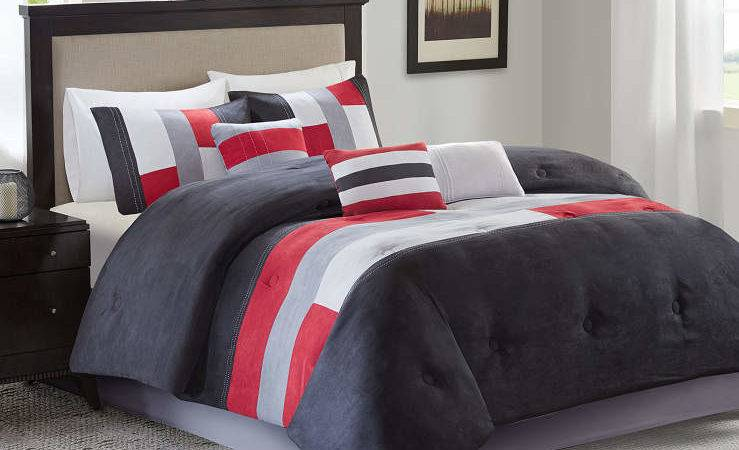 Living Colors Canyon Red Gray Comforter Sets Big Lots