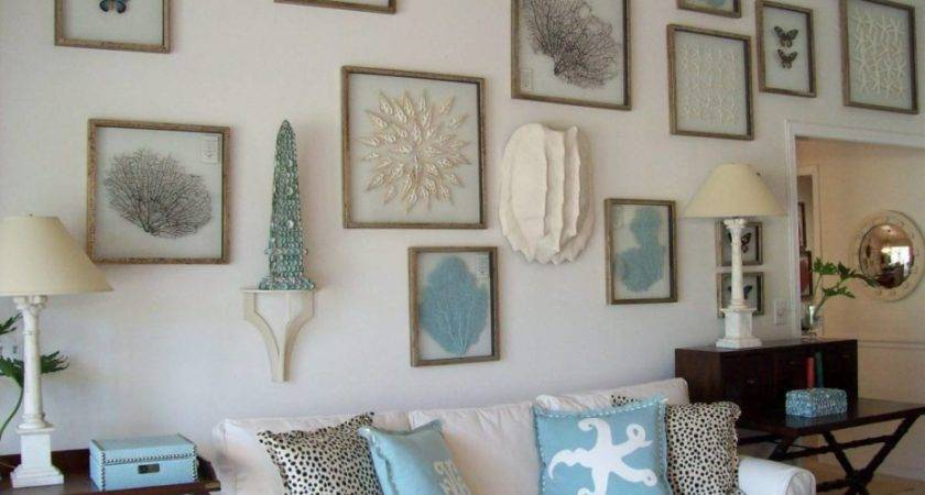 Living Room Beach Themed Decoration Cozy