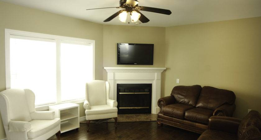 Living Room Corner Fireplace Decorating Clear