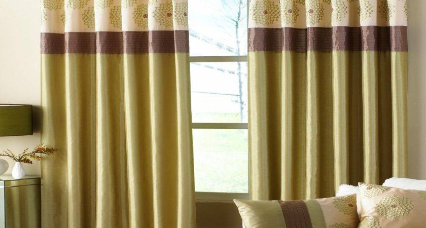 Living Room Curtains Drapes Brown