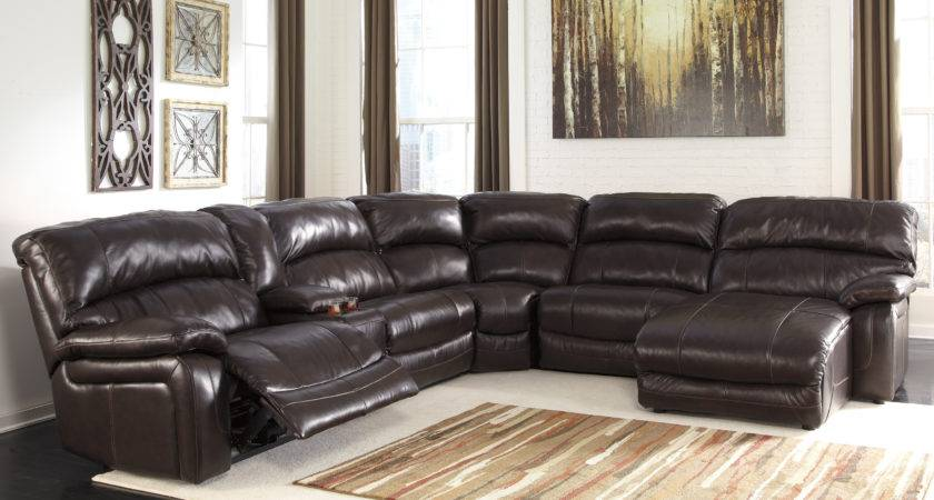 Living Room Decor Black Leather Sectional Chaise Sofa