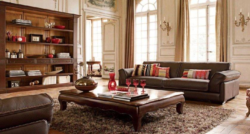 Living Room Decorating Brown Sofa New