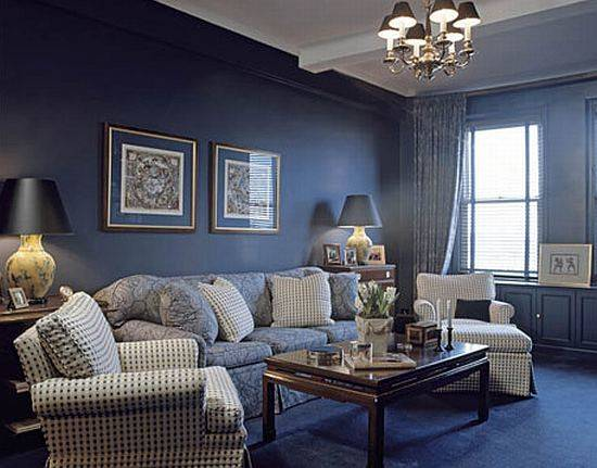 Living Room Design Blue Colors Ideas