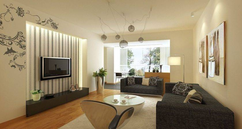 Living Room Exciting Modern Yellow Grey