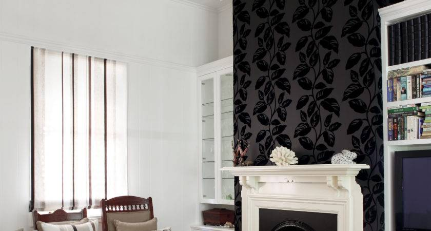 Living Room Fireplace Feature Wall Using