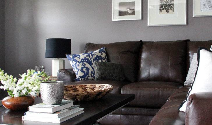 Living Room Furniture Gray Walls Modern House
