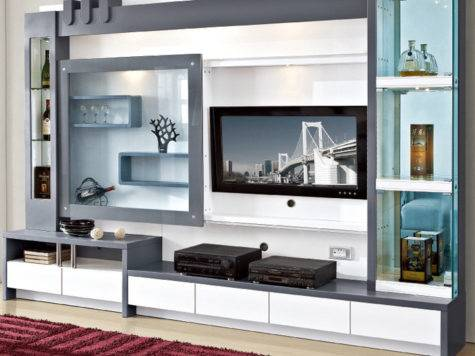 Living Room Furniture Modern Design Display Format Led