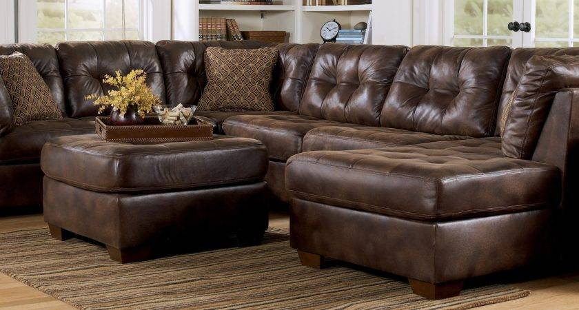 Living Room Ideas Brown Leather Sectional