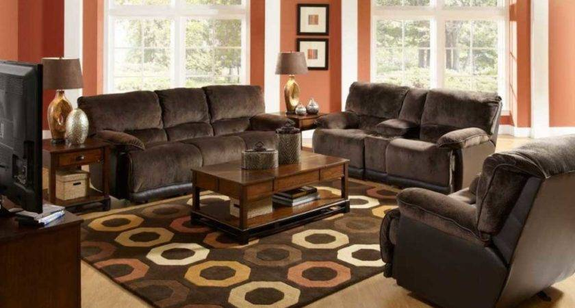 Living Room Ideas Brown Sofa Wooden Coffee Table