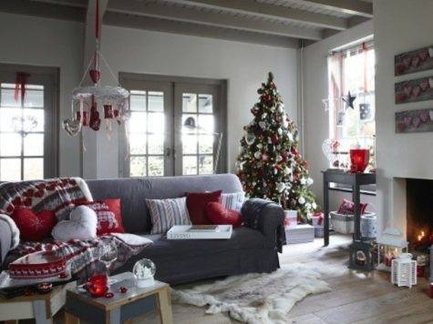 Living Room Ideas Grey Red Home Vibrant