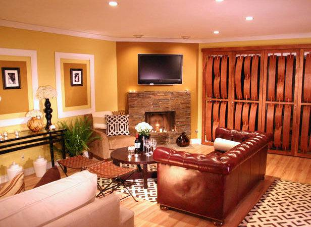Living Room Interior Design Warm