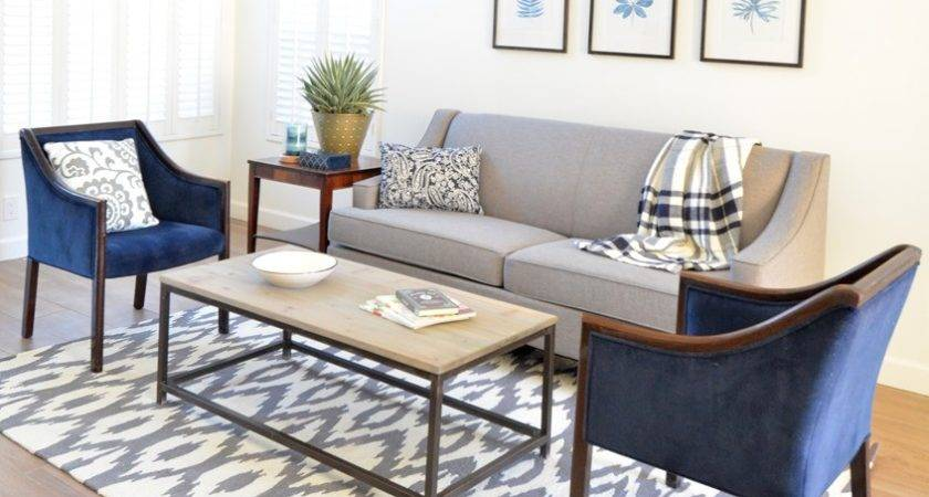 Living Room Navy Gray House Decorators Collection