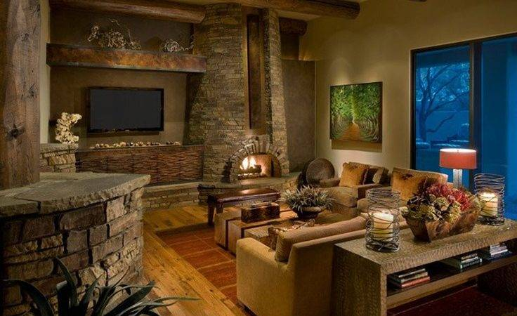 Living Room Rustic Modern House
