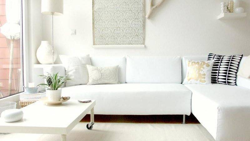 Living Room White Furniture Small Space