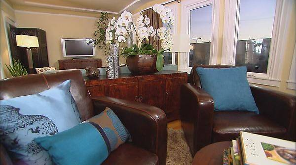 Living Rooms Blue Brown