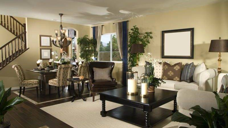 Living Rooms Earth Tones
