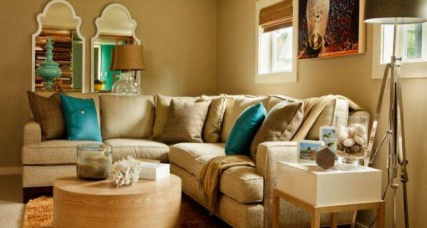 Living Turquoise Brown Room Decorating Ideas