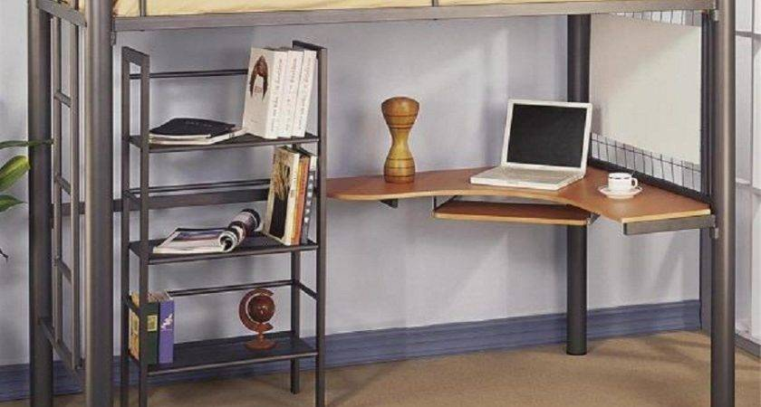 Loft Bed Table Benches Home Delightful