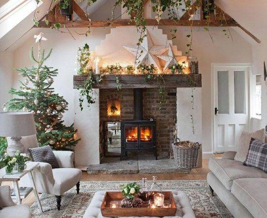Lovely Christmas Living Rooms Becoration