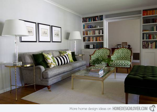 Lovely Grey Green Living Rooms Room