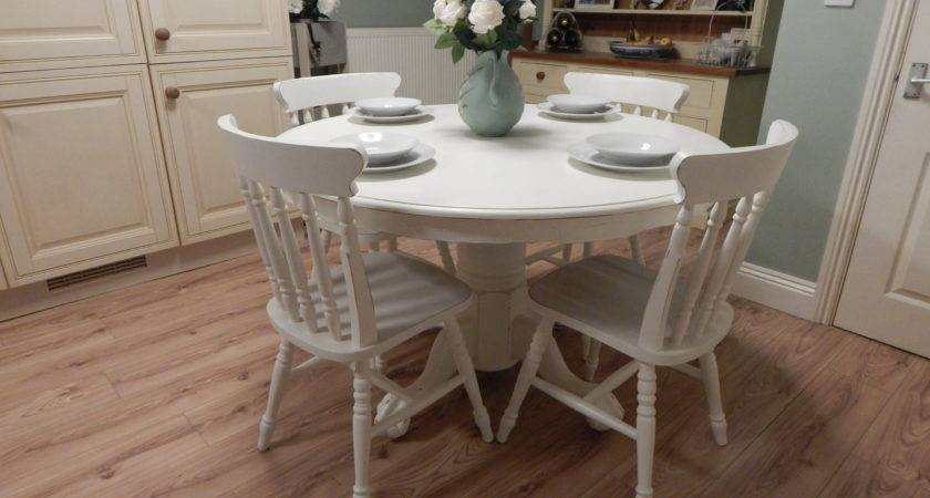 Lovely Shabby Chic Farmhouse Table Chairs Sold