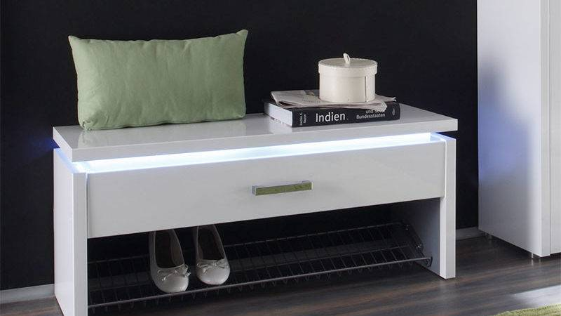 Luce Drawer Contemporary Shoe Storage Bench Choice