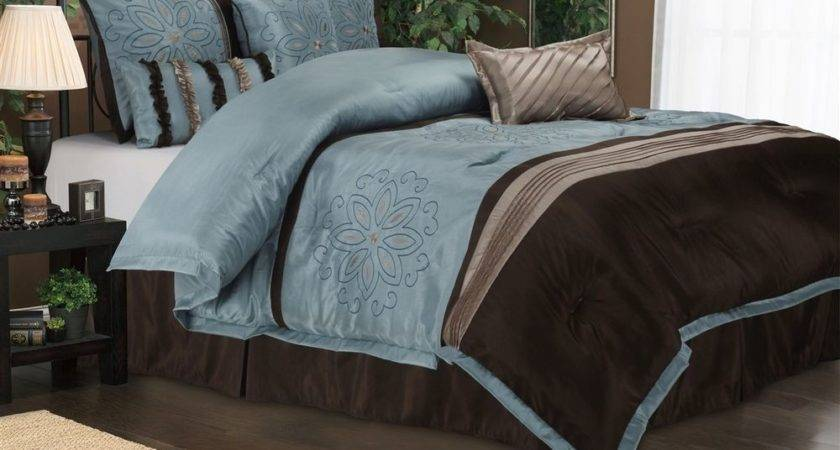 Luxe Collection Carleton Piece Blue Brown Comforter