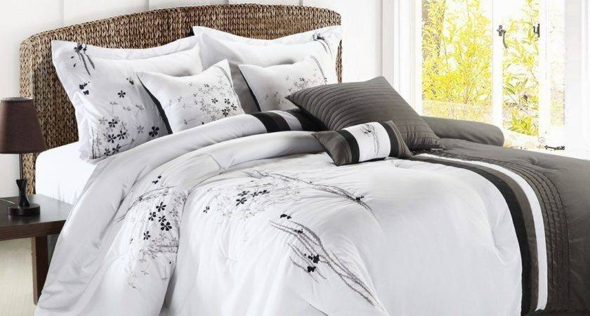 Luxury Bedding Set Emily Black Gray White