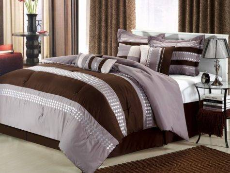 Luxury Bedding Set Taylor Brown Beige Gray