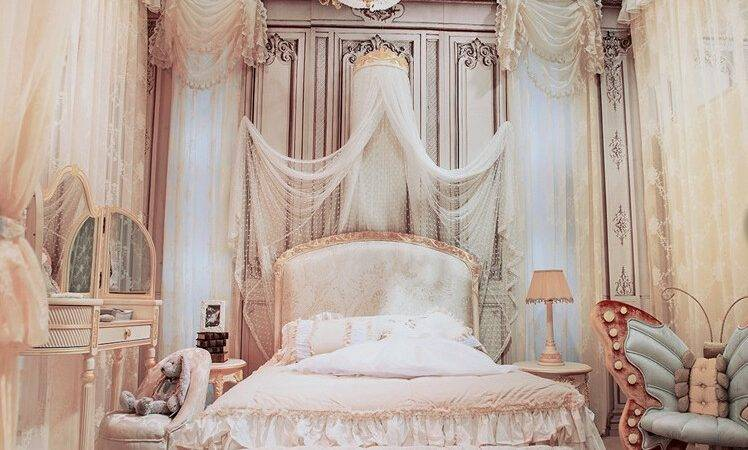 Luxury French Style Hand Carved Wooden Kids Bedroom