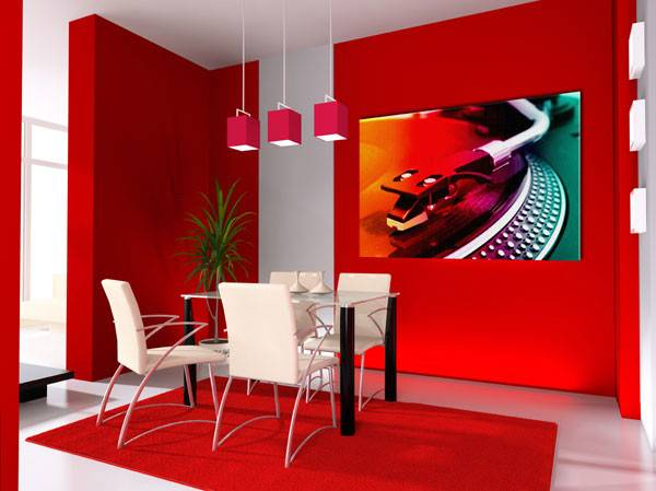 Luxury Life Design Colorful Dining Room Her Majesty Red