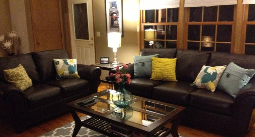 Luxury Living Room Brown Leather Sofas Best Wiring