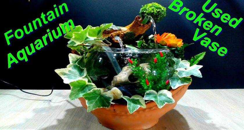 Make Beautiful Aquarium Broken Vase Youtube