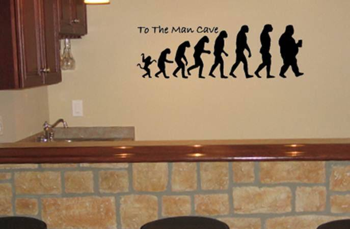 Man Cave Vinyl Wall Decal