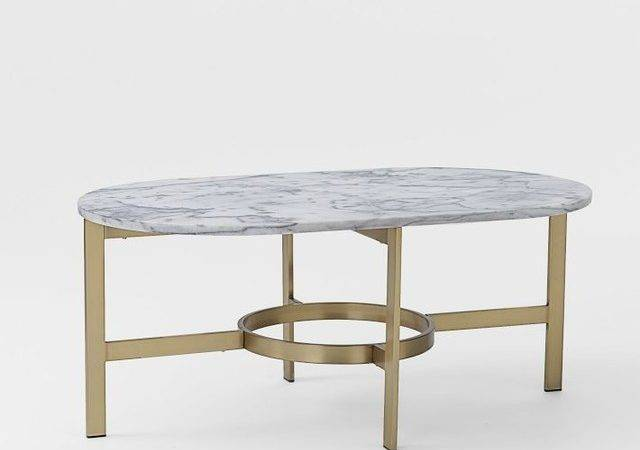 Marble Oval Coffee Table Contemporary Tables