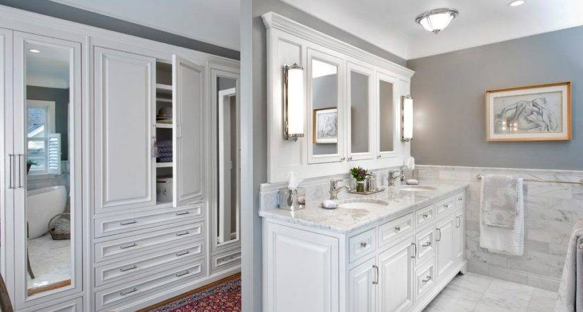 Marble Wainscoting Bathroom Traditional Double