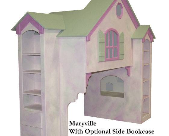Maryville Dollhouse Loft Bed Twin Over