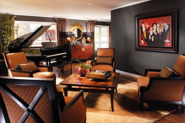 Masculine Living Room Traditional Los