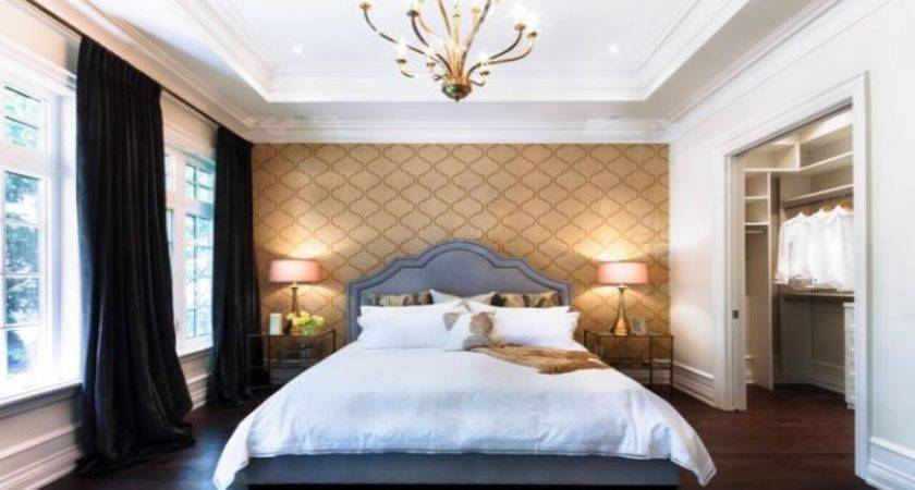 Master Bedroom Ideas Accent Wall Gold