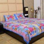 Maurvi Multi Color Cotton Bed Sheet Buy
