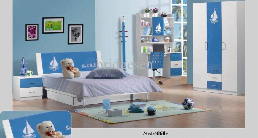 Mdf Girl Boy Bedroom Furniture Set Children Wardrobe