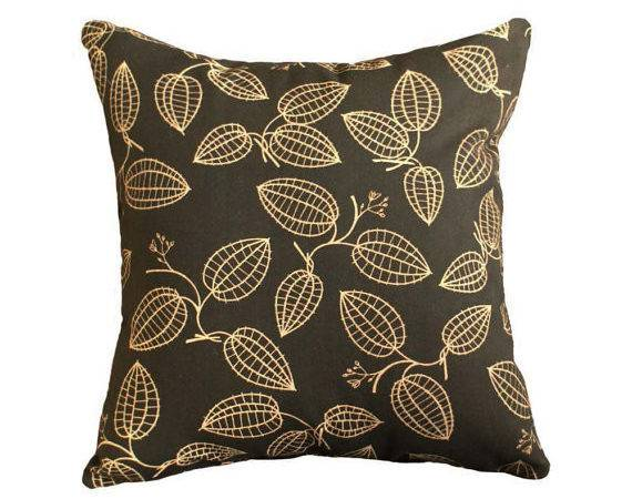 Mens Couch Pillow Covers Black Tan Masculine