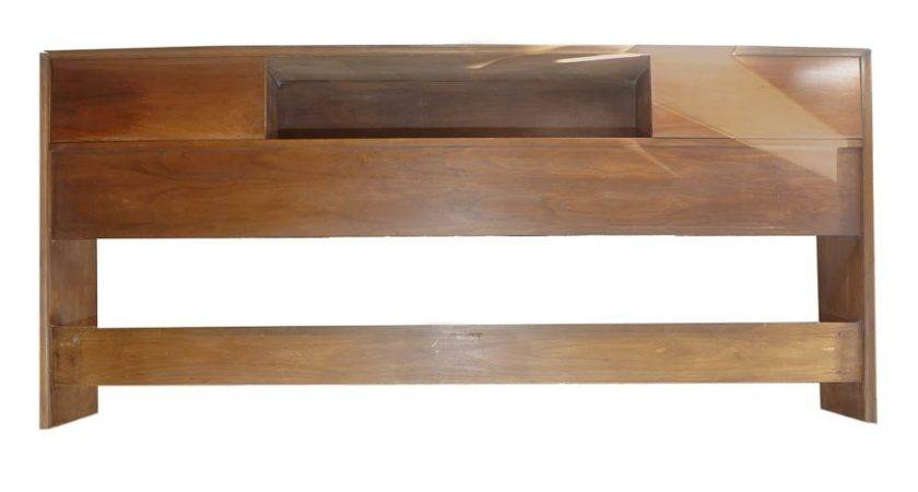Mid Century Sliding Door King Headboard Ebth