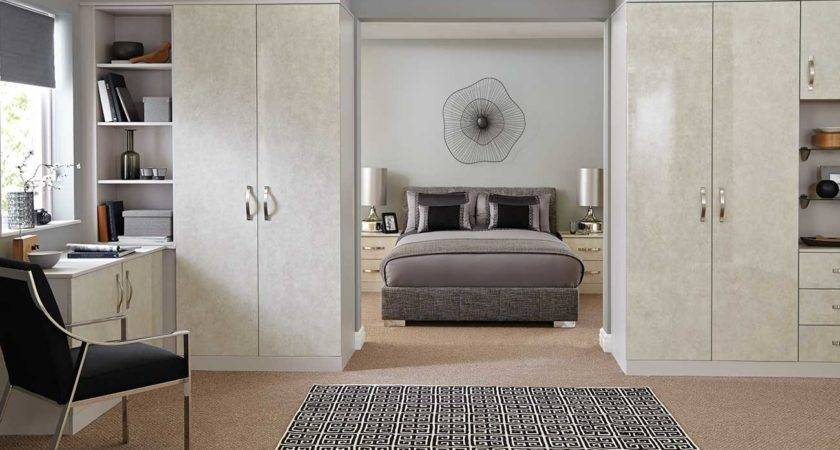 Minimalist Attic White Glass Teen Fitted Bedroom Furniture