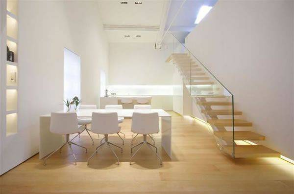 Minimalist Loft White Finished Walls Como Italy