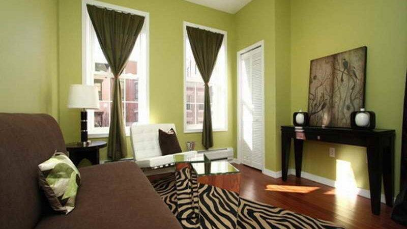 Miscellaneous Relaxing Green Living Room Wall Paint