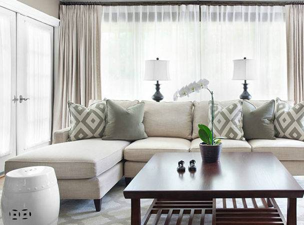 Mitchell Gold Sofa Contemporary Living Room Sherwin