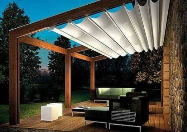 Modern Attached Pergola Design Designs Ideas